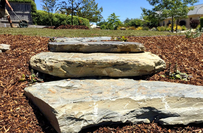 Rock Steps and Mulch