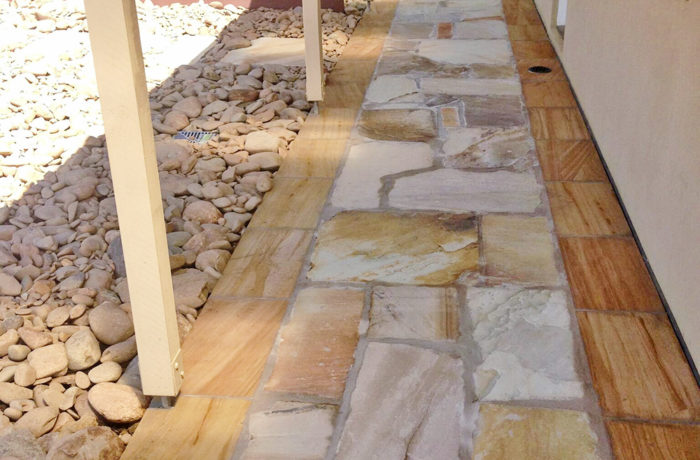 Wood and Rock Paving